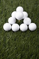 Golf Balls on Grass