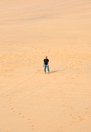 Exhausted Man in the Namib Desert