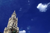 Rathausturm, old city hall tower, Munich, Bavaria, Germany