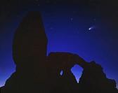 Turret Arch Hale_Bopp Comet Arches National Park Utah