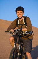 Man sitting on mountain bike