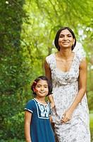 Indian mother holding daughterÕs hand