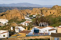 Troglodytic neighbourhood, Guadix. Granada province, Andalucia, Spain