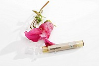 Impatient flower and Tube with Bach Flower Stock Remedy Impatiens glandulifera