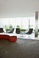 Modern office lobby