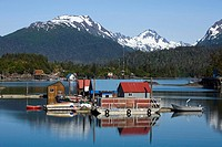 Halibut Cove in Kachemak Bay across from Homer, Alaska in Summer