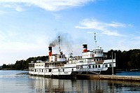Royal Mail Steamships Segwun and Wenonah II on Lake Muskoka, Ontario, Canada The RMS Segwun was built as a side wheeler in 1887  The original Wenonah ...