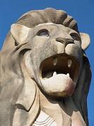 Merlion Statue auf der Insel Sentosa