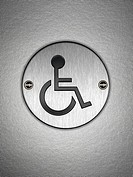Close up of disabled symbol