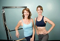 Portrait of Women in a Gym