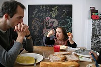 5_year_old girl with down´s syndrome with her father.