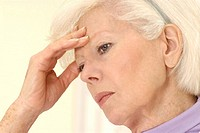 ELDERLY PERSON WITH HEADACHE Model.