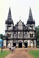 Santa Cruz basilica roman catholic church at Cochin , Kerala , India