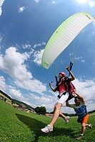 Switzerland, Europe, Paraglider, Outdoor, Outdoors, Outside, landscape, mountain, mountains, Canton Jura, Paragliding,