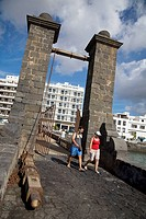 Spain, Canary Islands, Lanzarote, Puente de las Bolas (bridge)