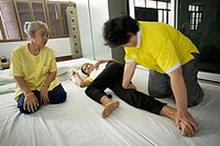 Thailand, Bangkok, traditional massage school
