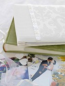 Photo albums and wedding photographs