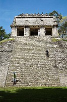 Templo del Conde, Temple of the Count or Earl, Palenque Archaeological Site, Palenque, Chiapas, Mexico