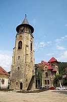 Saint John the Baptist Church clock tower, History and Archaeology Museum, Piata Libertatii, Piatra Neamt, Moldavia, Romania