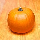 An orange pumpkin