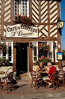 Cafe du Coiffeur, Beuvron-en-Auge, Normandy, France