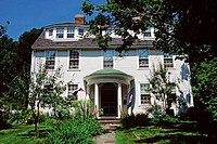 Old white painted house, Ipswich, Essex County, Massachusetts, New England, USA