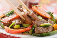 Stir_fried beef with vegetables Asia