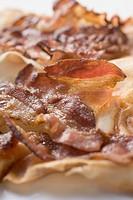 Crispy fried bacon close_up