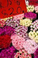 China, Hong Kong, Kowloon, flower market