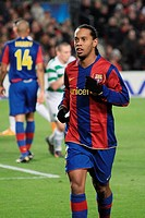 Ronaldinho, Brazilian footballer playing for FC Barcelona in the Spanish league