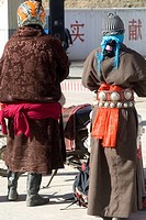 China, Gansu, Tibetan couple