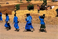 Ethiopia, Amhara schoolgirls