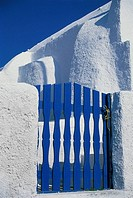 Blue Gate, Oia, Santorini, Greece