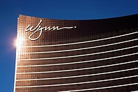 Sun Reflecting on the Wynn Hotel and Casino, Las Vegas Strip, Las Vegas, Nevada, USA