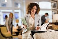 Saleswoman in Furniture Store