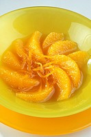 Oranges with a rose pomelo juice _ Dietetician Solveig Dartinet _ 134 calories _ Dietetic menu
