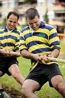 ´Sokatira´ (tug of war), rural basque sport. Basque Country, Spain