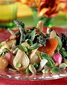 Salad of young vegetables