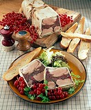 Duck terrine with red currants