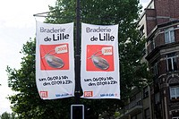 Braderie of Lille or antique fair which takes place every year in September downtown