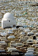 Sidi el-Mezeri ´kouba´ (mosque) and cemetery, Monastir, Tunisia