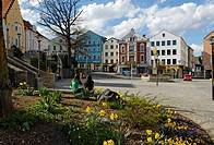 Market Square, Regen, Bavarian Forest, Lower Bavaria, Germany, Europe