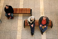 People sitting on bench, Phoenix Shopping Center, Hamburg, Germany