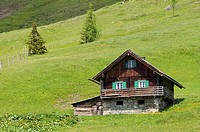 Chalet on Mt. Grossglockner, Hohe Tauern National Park, Heiligenblut, Carinthia, Austria, Europe