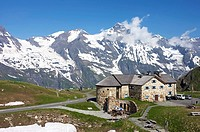 Stone-bricked building in the Upper Nassfeld area, Grossglockner High Alpine Mountain Road, Hohe Tauern National Park, Salzburg, Austria, Europe