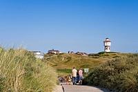 Dunes, water tower, Langeoog Island, East Frisian Islands, East Frisia, Lower Saxony, Germany, Europe