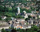 D-Essen, Ruhrgebiet, Nordrhein-Westfalen, NRW, Kulturhauptstadt 2010, Essen-Werden, Stadtpanorama, Kloster Werden, Abtei Werden, Ludgerusbasilika, Fol...