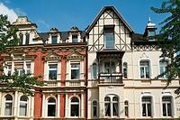 D-Muelheim an der Ruhr, Ruhrgebiet, Nordrhein-Westfalen, NRW, Wohnhaeuser in der Dohne, Fassaden, Fenster, Balkone, D-Muelheim an der Ruhr, Ruhr area,...