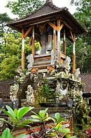 Balinese bell-tower, tower for the Kul Kul, wooden slotted drum, near Rendang, Bali, Indonesia, South East Asia