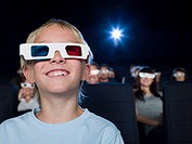 A boy watching a 3d movie (thumbnail)